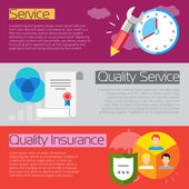 Good service elements — Stock Vector