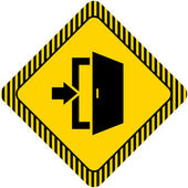 出口標識 — ストックベクタ