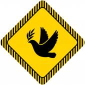Dove of peace icon — Stock Vector