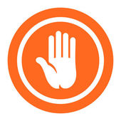 Hand palm icon — Stock Vector
