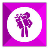 Giving present icon — Stock Vector
