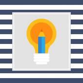 Creative idea icon — Stock Vector