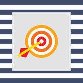 Dart arrow hitting target — Stock Vector