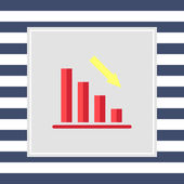 Declining bar chart — Stock Vector