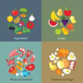 Rational nutrition elements — Stock Vector