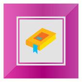 Ikona knihy s modrou záložkou — Stock vektor
