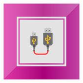 USB to mini USB extender — Stock Vector