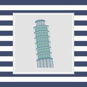 比萨斜塔图标 — 图库矢量图片