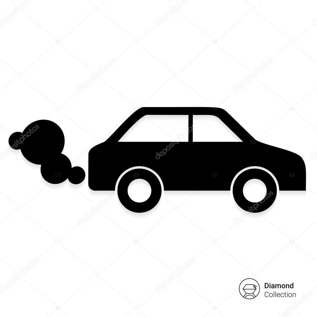 voiture mettant des gaz d 39 chappement des fum es image vectorielle 87720324. Black Bedroom Furniture Sets. Home Design Ideas