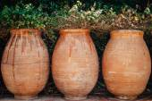 Three plant pots — Stock Photo