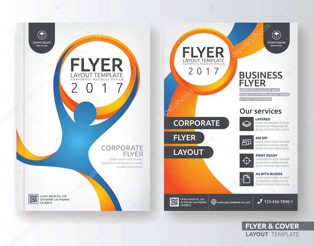 multipurpose corporate business flyer layout template design multipurpose corporate business flyer layout template design stock vector 118351668