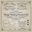 Set of vintage wedding ornaments and decorative elements — Stock Photo #73820715
