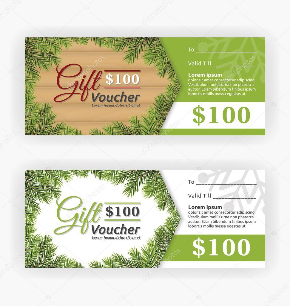 Gift voucher certificate template Vector illustration – Gift Voucher Certificate Template
