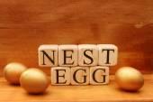 Uovo di nido di forma blocchi predefiniti — Foto Stock
