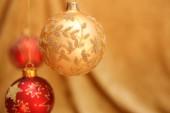 Beautiful christmas baubles — Stock Photo