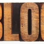 Letterpress Spelling Out Blog — Stock Photo #76006145