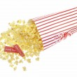 Paper box of popcorn with two tickets — Stock Photo #76005451