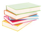 Pilha de livros com capas coloridas — Fotografia Stock