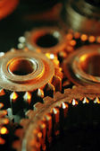 Old dirty metal cog gears — Stock Photo