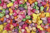 Pile of colorful popcorn — Stock Photo