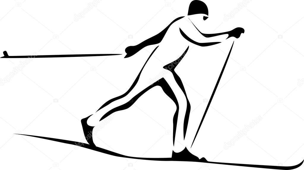 Běžecké lyžování — Stock Vektor © bokononist #75822339