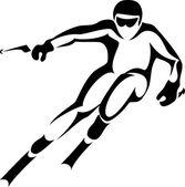 Skifahren — Stockvektor