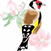 Goldfinch — Stock Vector