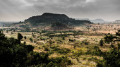 Scenic cambodian lowlands — Stock Photo