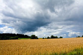 Stormy weather over a rural landscape — Stock Photo