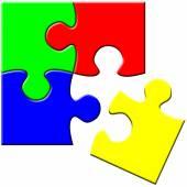 Simple puzzle — Stock Photo