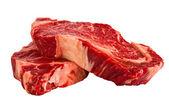Ribeye steaks isolated on white background — Stock Photo