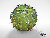 La planète informatique — Stock Photo