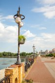 Lanterns on the embankment — Stock Photo
