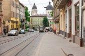 Walking street in the old town, Lviv, Ukraine, 28 June, 2015 — Stock Photo
