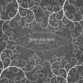 Scheda dell'invito di denim con ornamento — Vettoriale Stock