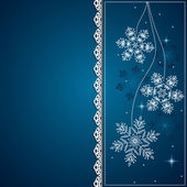Blue banner with snowflakes — Stock Vector