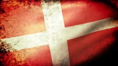 Dänemark-Fahnenschwingen — Stockvideo