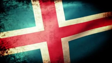 Iceland flag waving — Stock Video