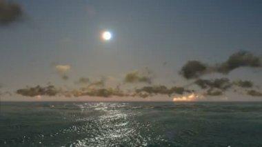 Beautiful sunset over sea — Stock Video