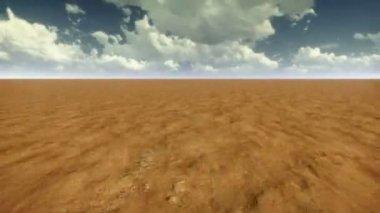 Desert flight with clouds — Video Stock