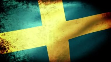 Sweden flag waving — Stock Video