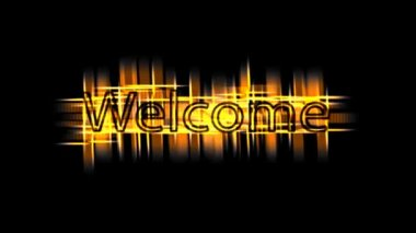 Welcome text on black background — 图库视频影像