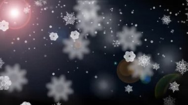Flakes falling and lens flare — Stock Video