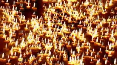 Candles forming cross — Stock Video