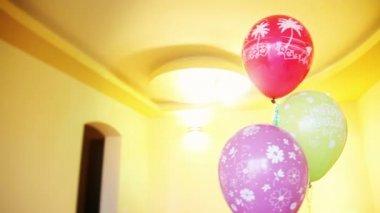 Happy birthday  balloons — Stock Video