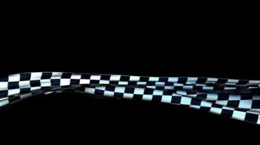 Waving checkered cloth — Stock Video