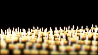 Many candles in the night — Stock Video
