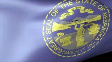 Flaga stanu Nebraska macha — Wideo stockowe