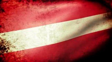 Latvia flag waving — Stock Video