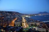 Night view of Naples — Stock Photo